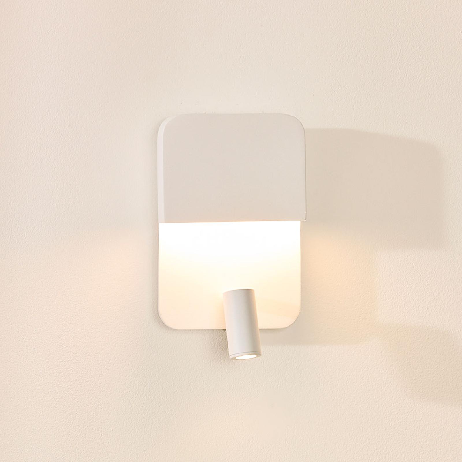 LED-seinävalaisin Boxer spotilla, valkoinen