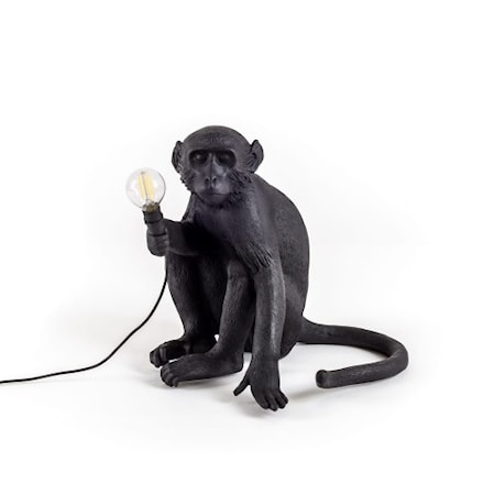 Monkey Lamp Utomhus Sittandes Svart