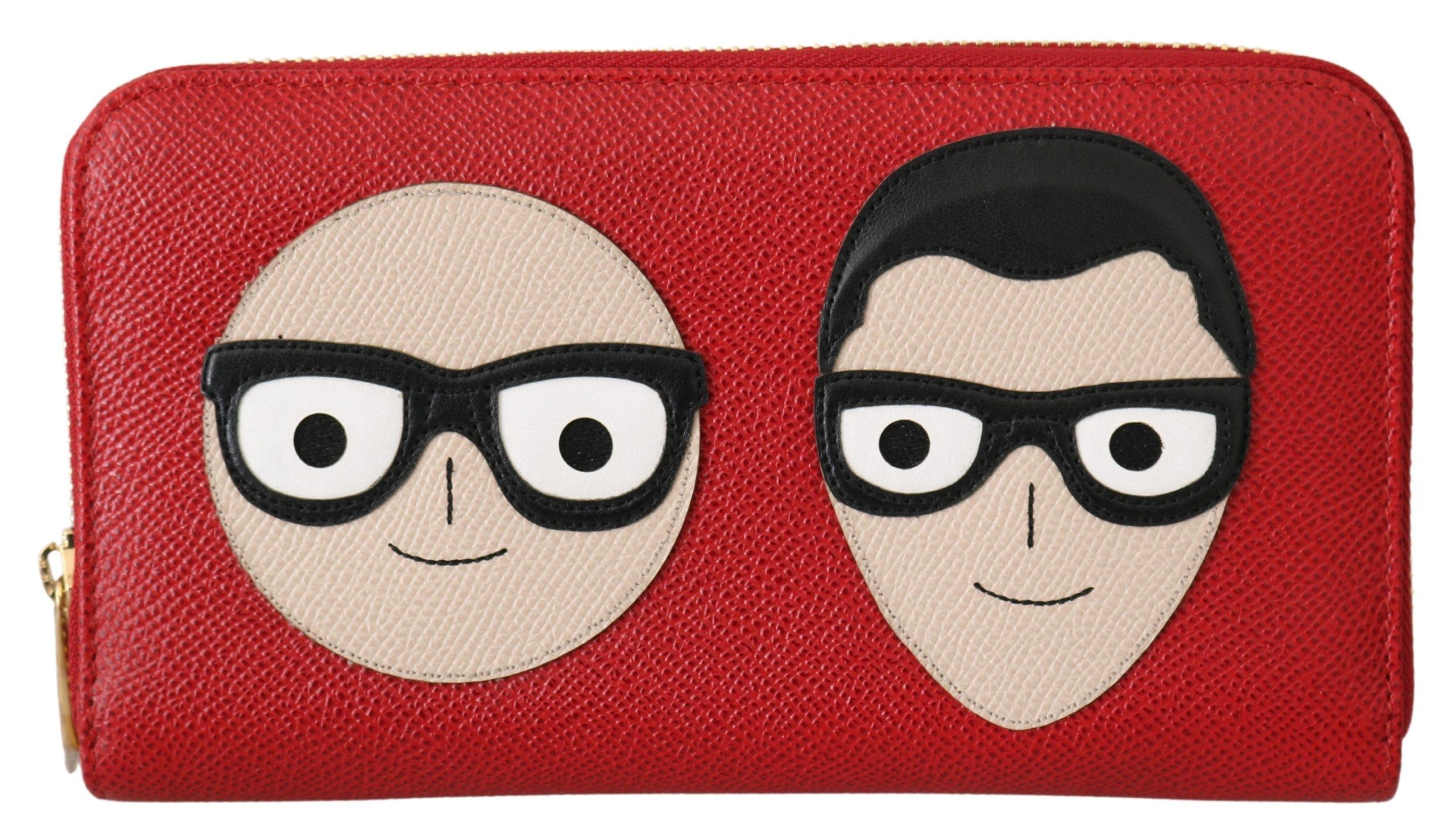 Dolce & Gabbana Women's #dgfamily Continental Clutch Leather Wallet Red VAS9665