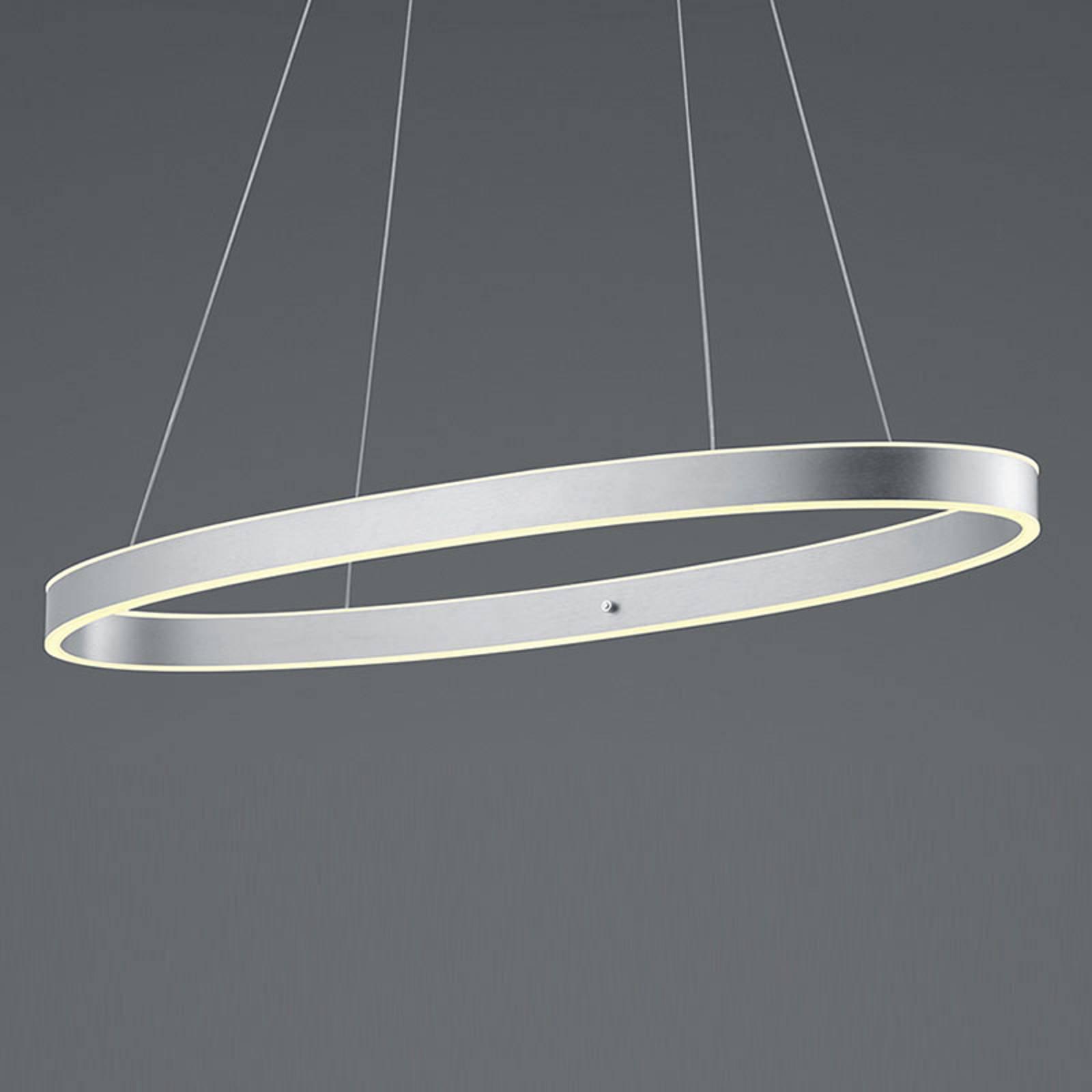 B-Leuchten Delta LED-hengelampe, aluminium matt