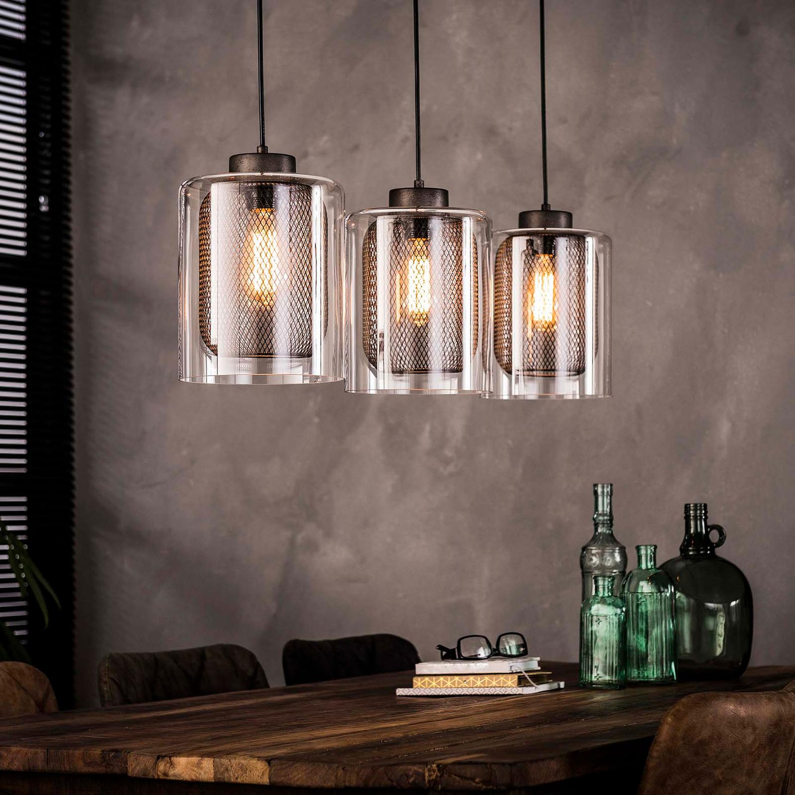 Riippuvalo Macij, tuplavarjostimet, 3-lamppuinen