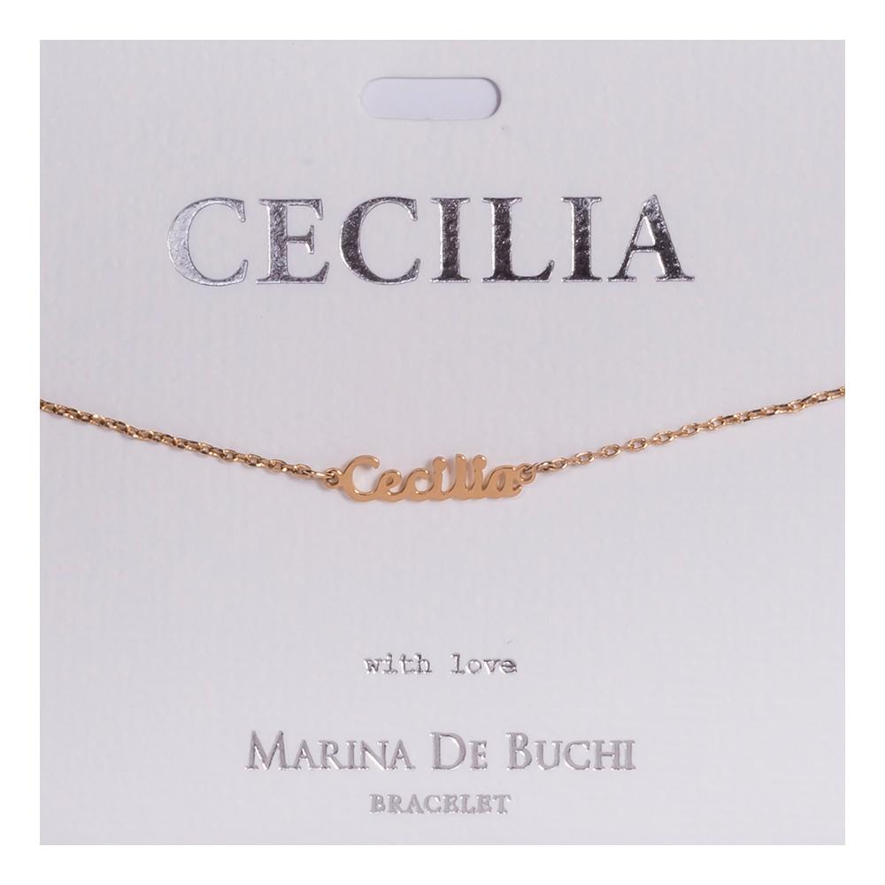 Namnarmband Guld - Cecilia