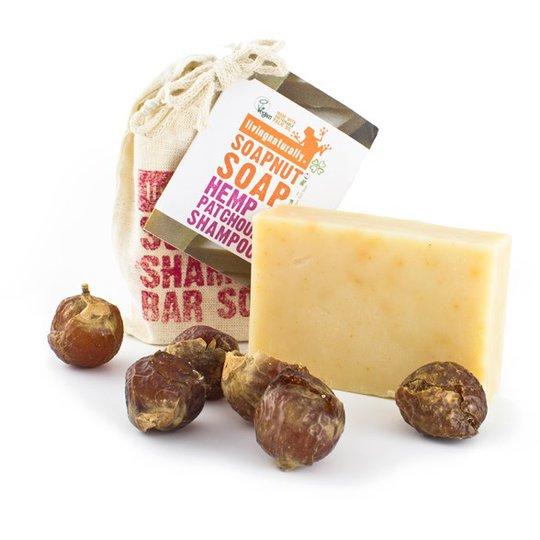 Living Naturally Hemp & Patchouli Soapnut Shampoo Bar, 90 g