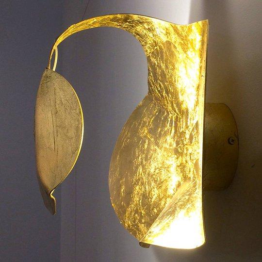 Gi.Gi-LED-design-seinävalaisin, 40 cm, kulta