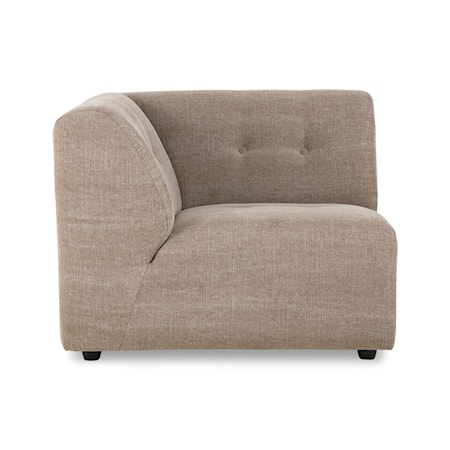 Vint couch Soffmodul Vänster Linblandning Taupe