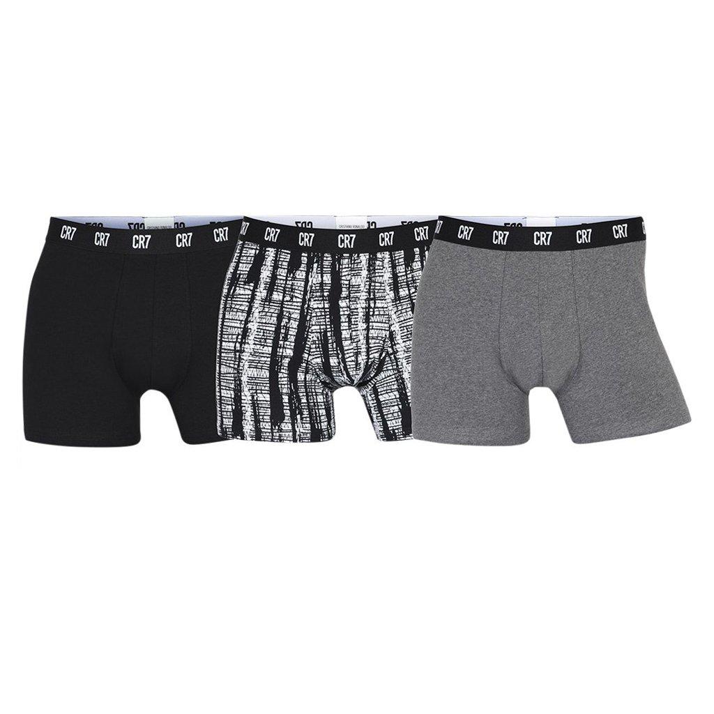 CR7 Cristiano Ronaldo Men's Boxer Shorts Various Colours 8100-49 - grey-4 S