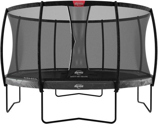 BERG Elite Regular Trampoline 430 inkl Deluxe Sikkerhetsnett, Grå