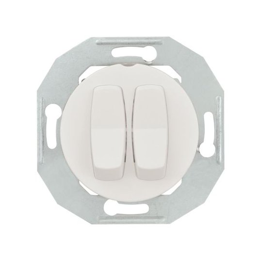 Schneider Electric Renvoa WDE011026 Vipukytkin ilman kehystä, valkoinen Kaksoisporrastus