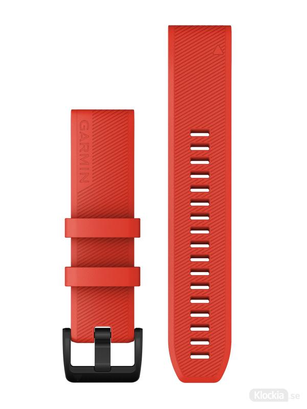 Garmin QuickFit 22mm - Klockarmband, Laserrött med svarta detaljer i rostfritt stål