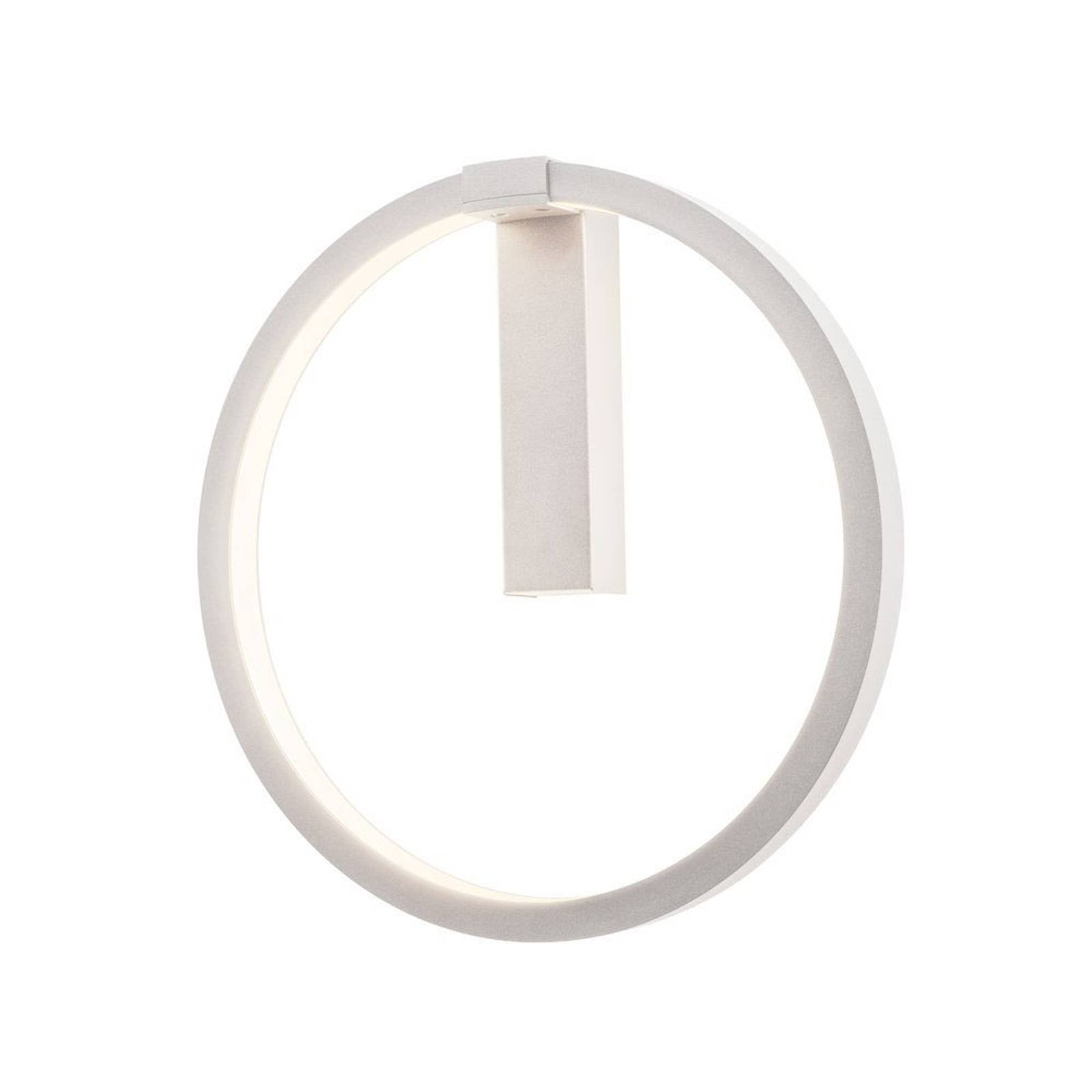SLV One LED-vegglampe, DALI, hvit, Ø 40 cm