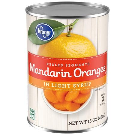Kroger Mandarin Oranges in Light Syrup - 15.0 oz