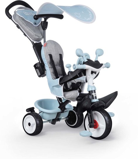 Smoby Trehjulsykkel Baby Driver Plus, Blå