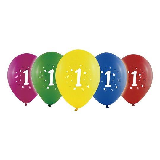 Sifferballong Latex Ett - 10-pack