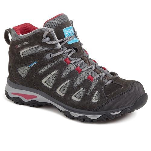Karrimor Women's Rise Waterproof Trekking Boots Multicolor Isla Mid - Black C/Pink UK-6