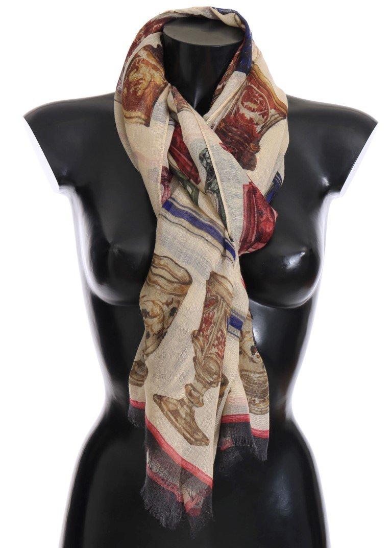 Dolce & Gabbana Women's Silk Cashmere Scarf Multicolor MS2170