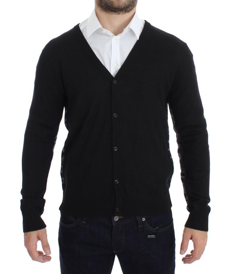 John Galliano Men's Wool Button Down Cardigan Black SIG17768 - XXL