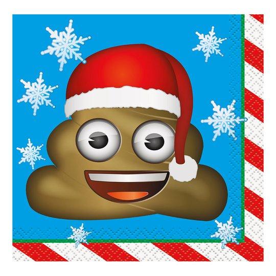Kaffeservetter Emoji Julafton - 16-pack