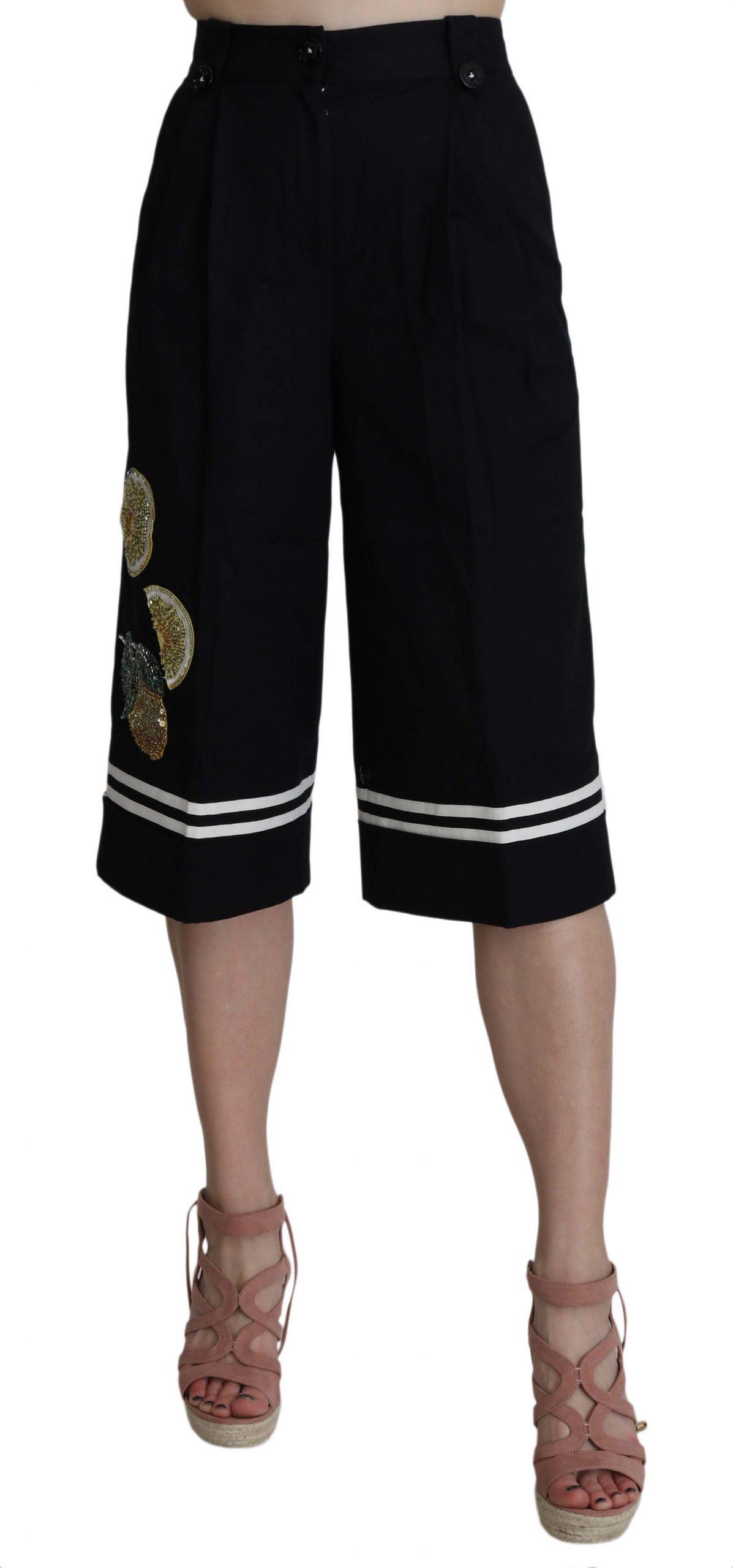 Dolce & Gabbana Women's Trouser Black SKI1180 - IT36 | XS