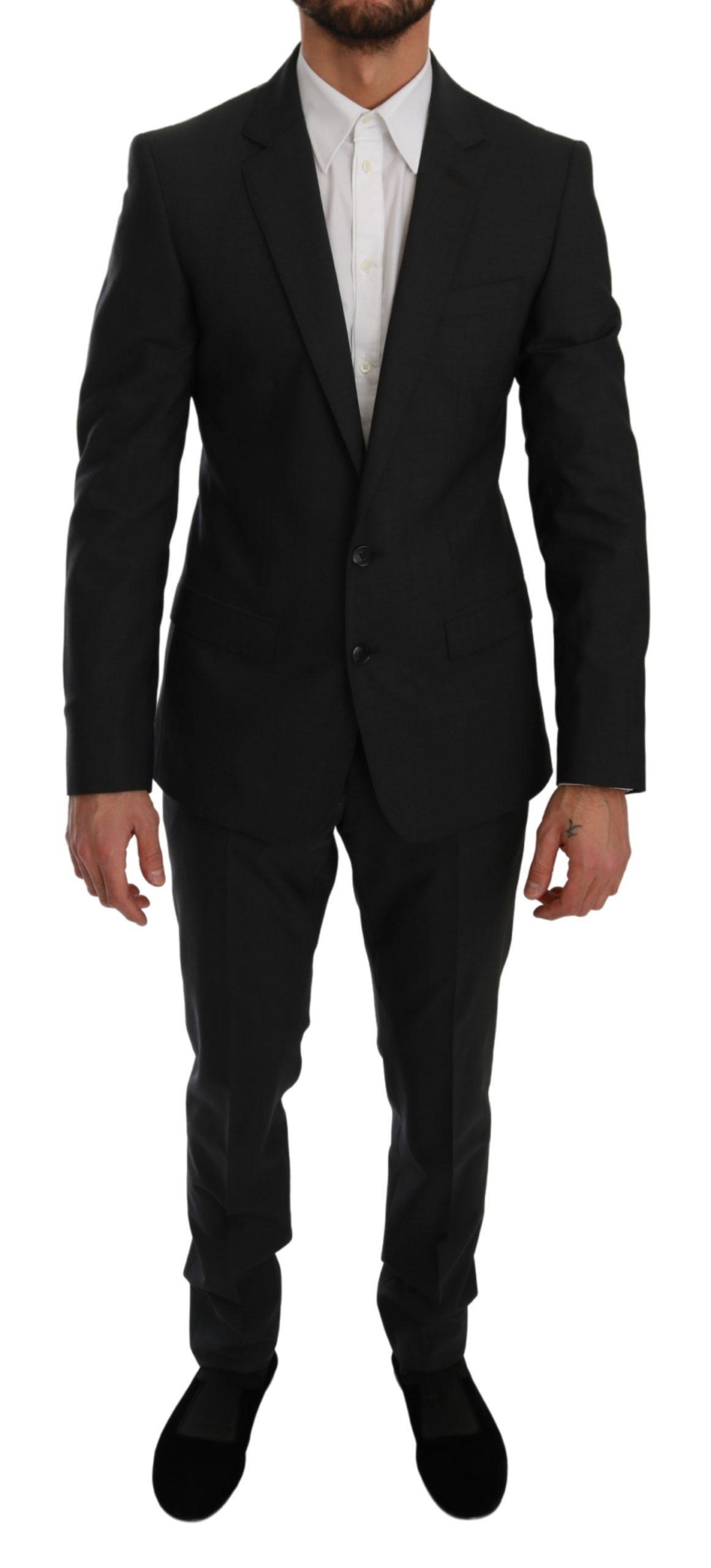Dolce & Gabbana Men's Slim Fit 2 Piece MARTINI Suit Gray KOS1756 - IT46   S