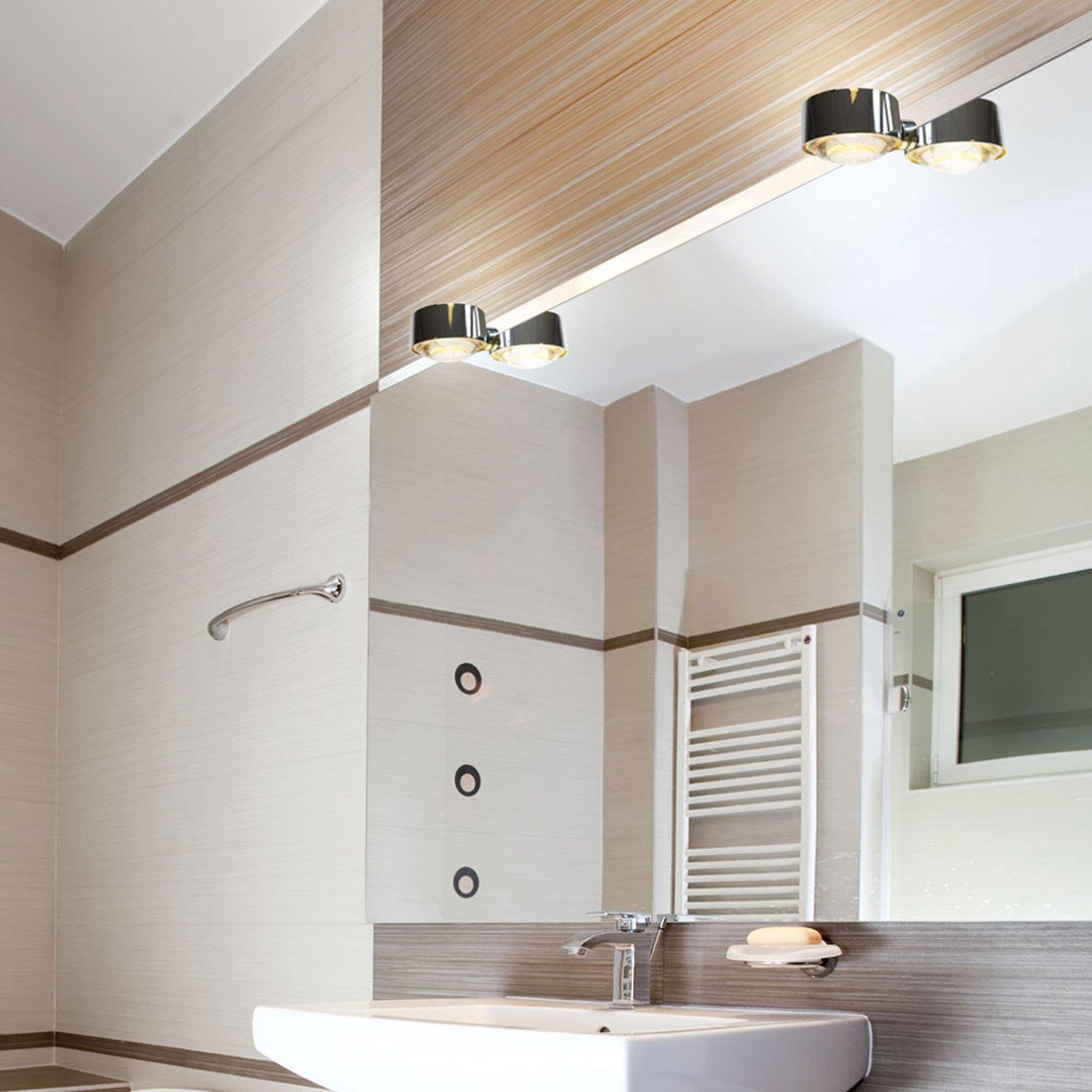 LED-speilklemmelampe Puk Fix, krom