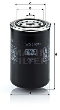 Öljynsuodatin MANN-FILTER WD 940/13