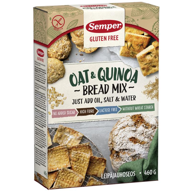 """Leipäjauhoseos """"Kaura & Kvinoa"""" 460g - 37% alennus"""