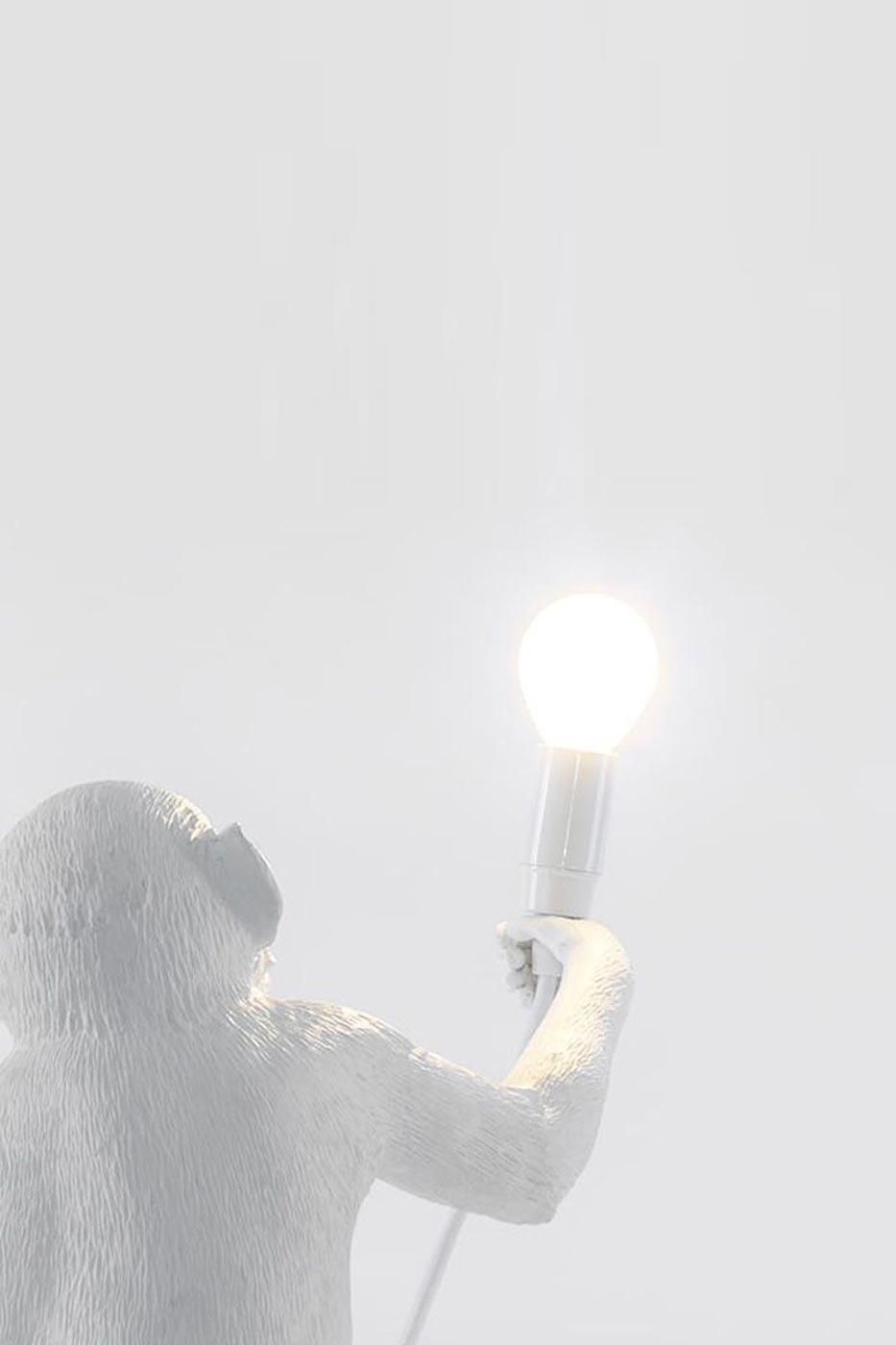 Ljuskälla till bordslampa apa vit