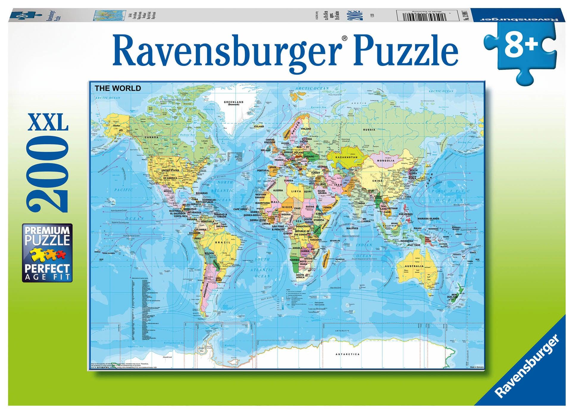Ravensburger Pussel Världskarta 200 Bitar