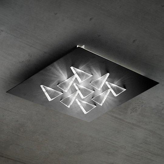 Kimaltava LED-kattovalaisin Cristalli, musta