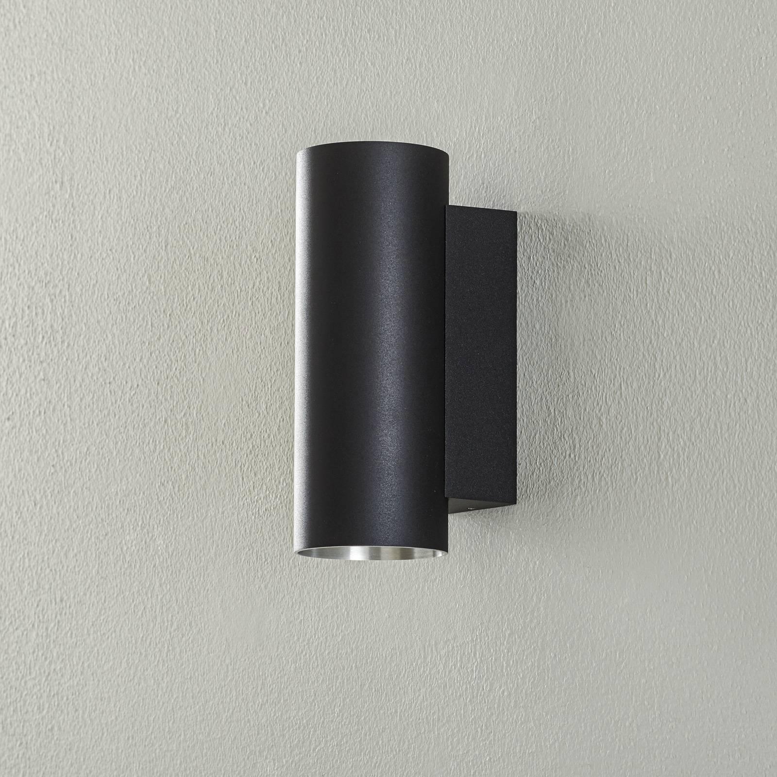 BEGA Studio Line seinävalo pyöreä musta/alu 21cm