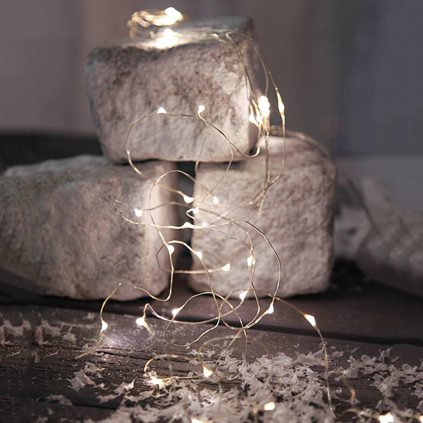 Paristokäyttöinen Dew Drops -LED-valoketju
