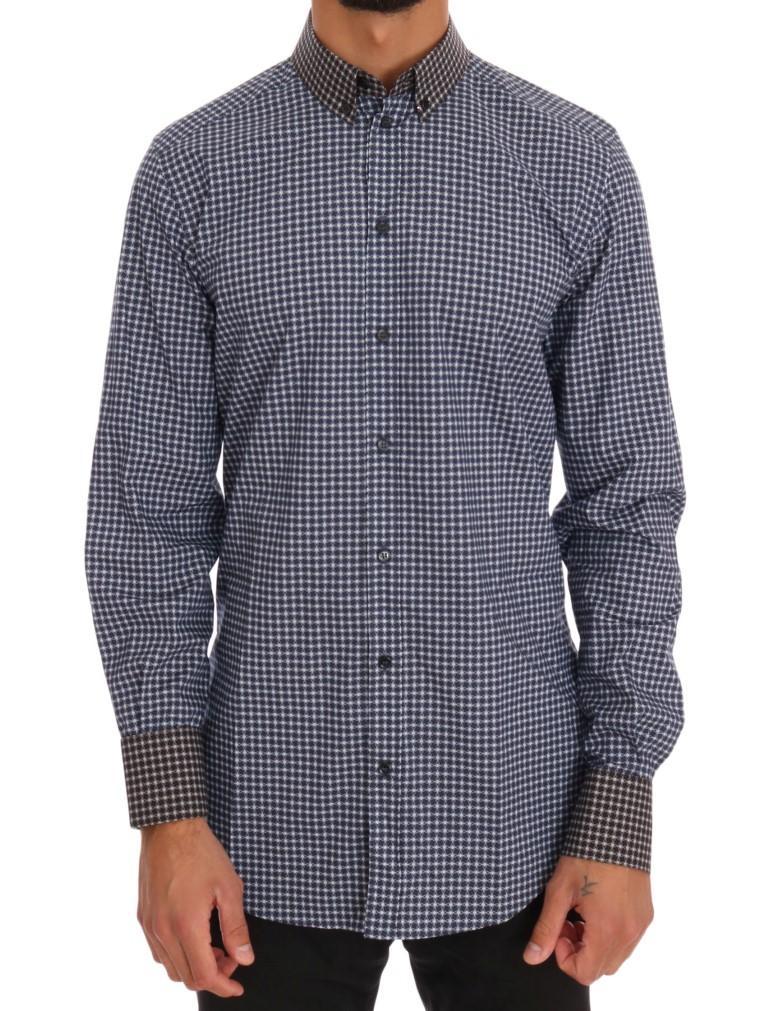 Dolce & Gabbana Men's Pattern Cotton Shirt Multicolor TSH1069 - 41