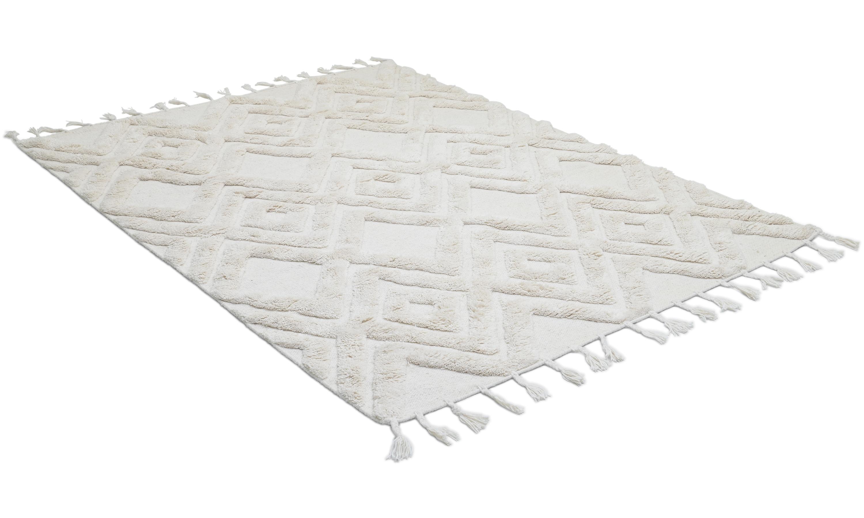 Copenhagen wool ivory - håndvevd ullteppe