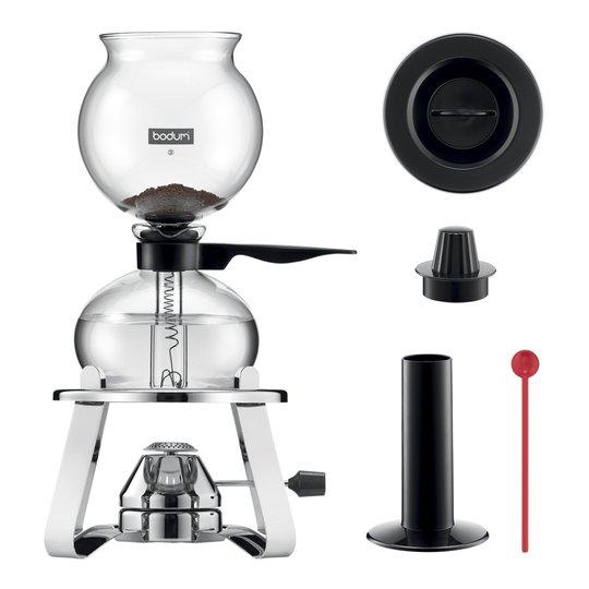 Bodum - Pebo Set Kaffebryggare 8 koppar + Brännare + Tillbehör