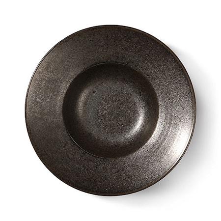 Home Chef Ceramics pasta plate Rustic Black