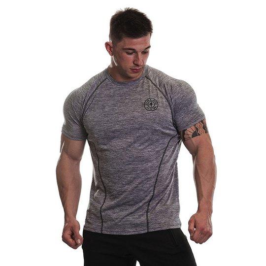 Gold's Gym Performance Raglan T-shirt, Grey Marl