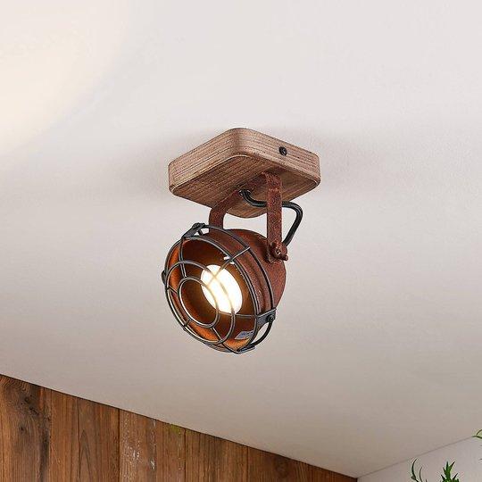 Lindby Farovi -kattokohdevalo ruoste 1-lamppuinen
