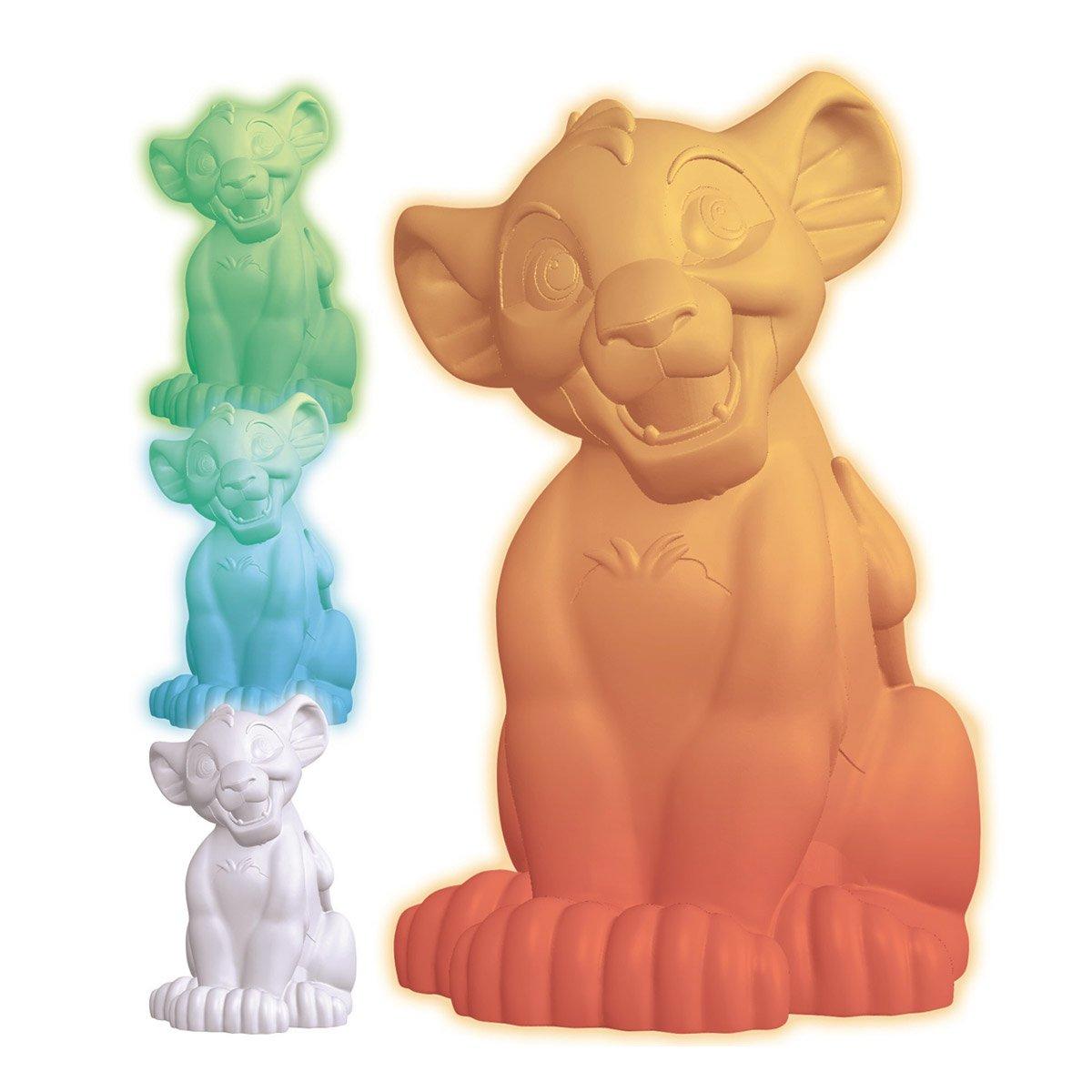 Lexibook - 3D design Lion King Simba colour change night light approx. 20cm (NLJ105AN)