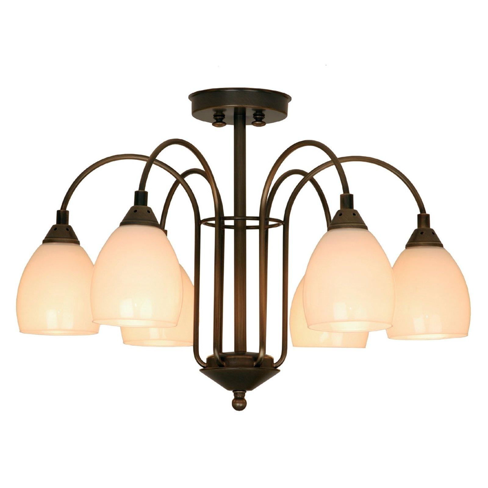 ANNO 1900 stilig taklampe med 6 lys
