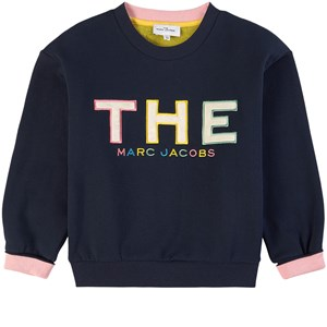 The Marc Jacobs Logo Sweatshirt Marinblå 2 år