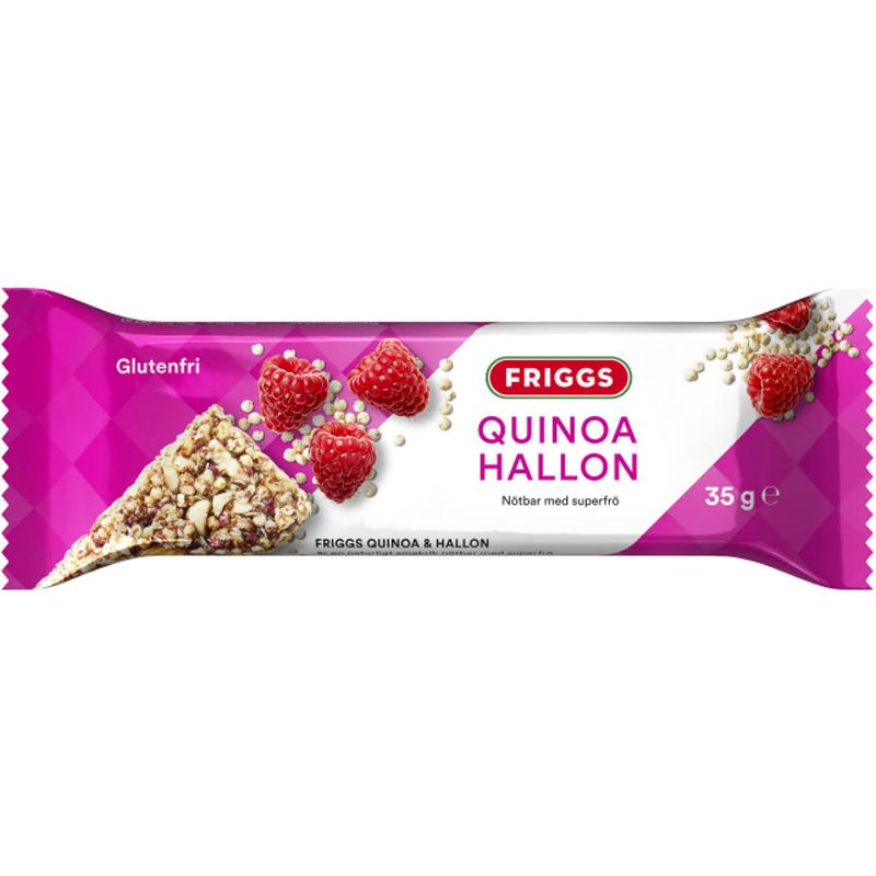Pähkinäpatukka Quinoa & Vadelma 35 g - 77% alennus