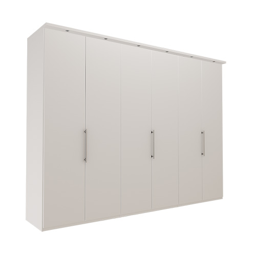 Garderobe Atlanta - Hvit 300 cm, 236 cm, Med gesims