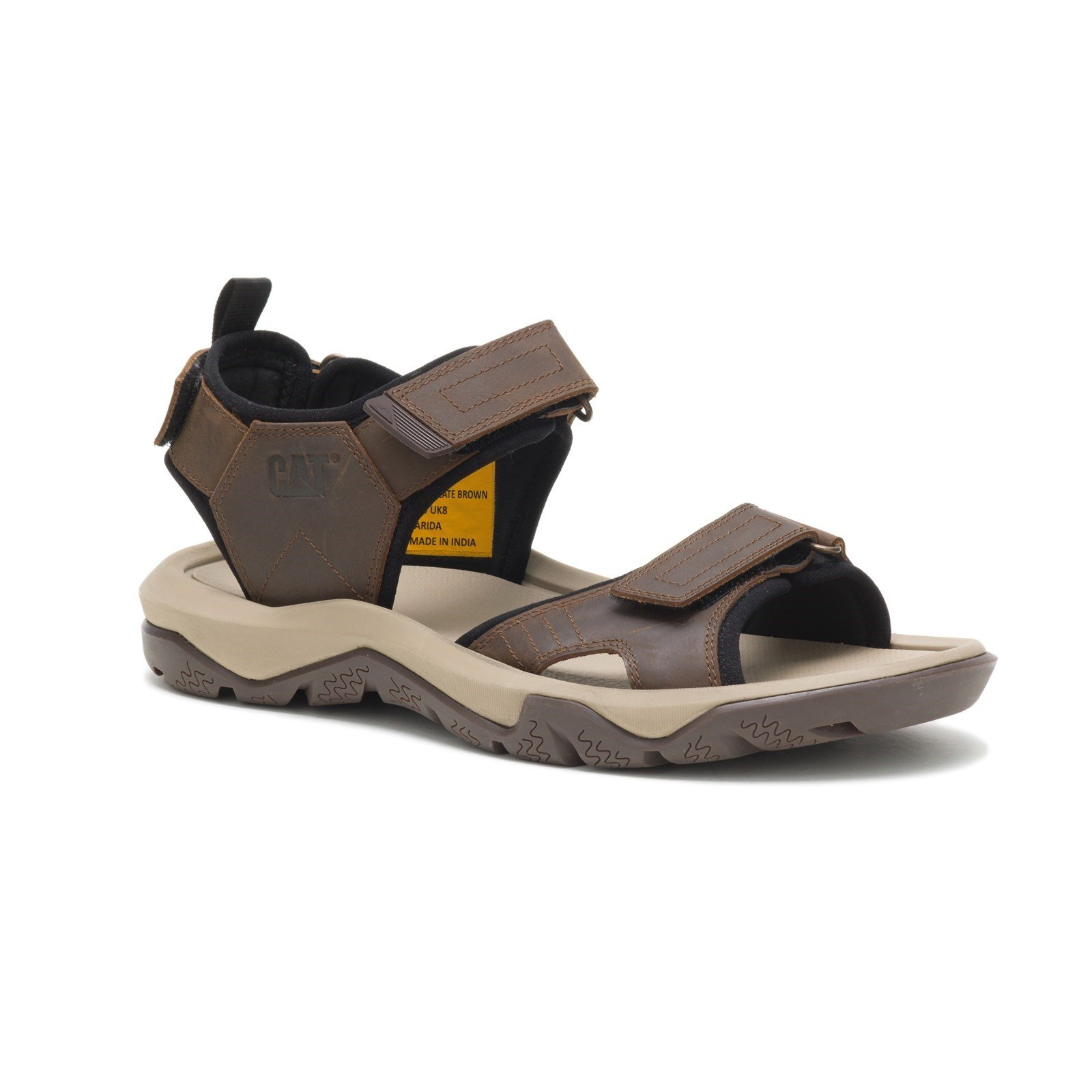CAT Lifestyle Men's Waylon Sandal Various Colours 32269 - Chocolate Brown 7