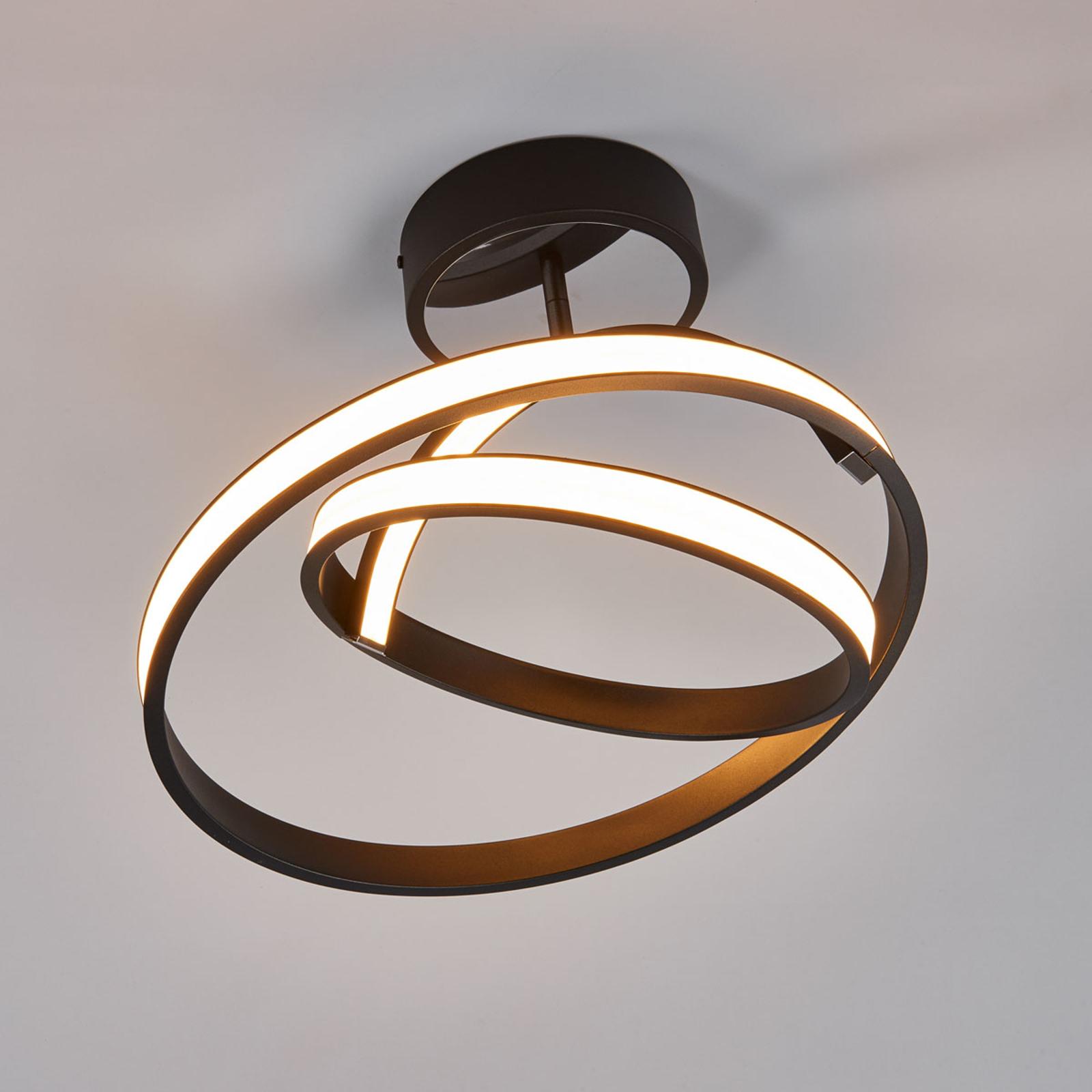 Largo – futuristinen LED-kattovalaisin, musta