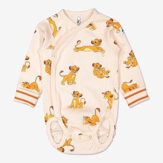 Omslagsbody med Simba-trykk baby off-white