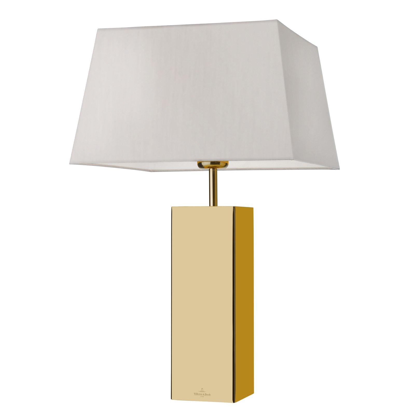 Villeroy & Boch Prag bordlampe i gullstil