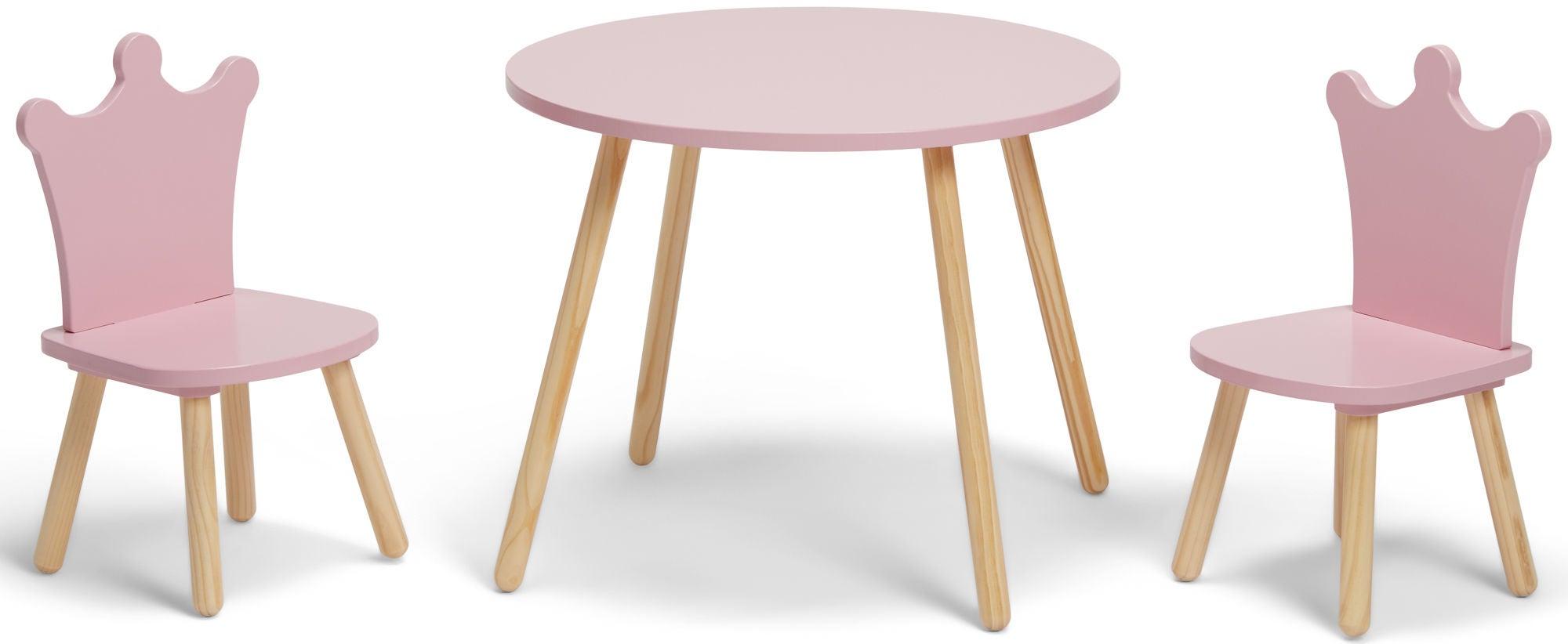 Alice & Fox Pöytä + Tuolit Princess, Vaaleanpunainen