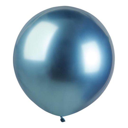 Ballonger Krom Blå Stora - 10-pack