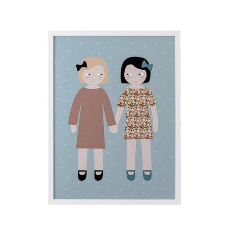 Ramme Hvit Furu Barn poster