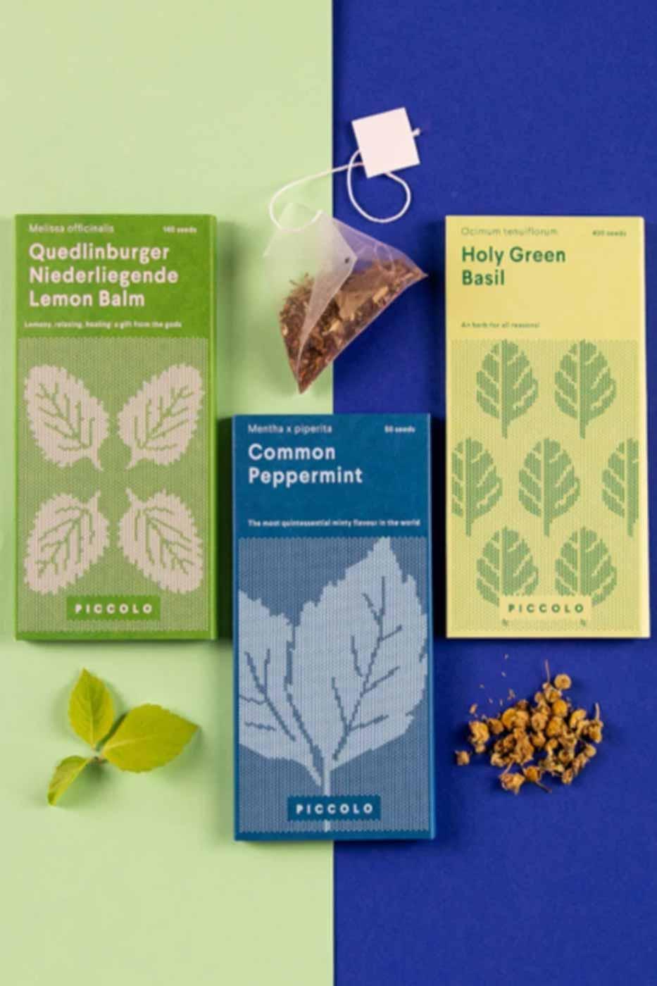 Fröspåsar set om 3 Herbal Teas